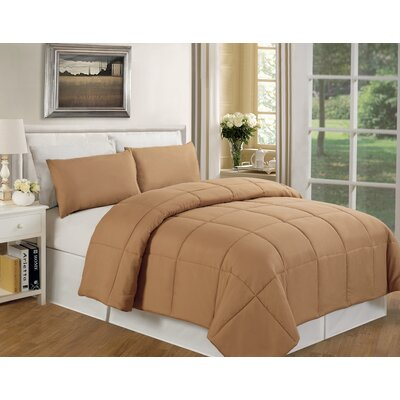 Eckhardt Home Comforter Size: Full/Queen, Color: Taupe