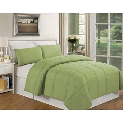 Eckhardt Home Comforter Size: King, Color: Sage