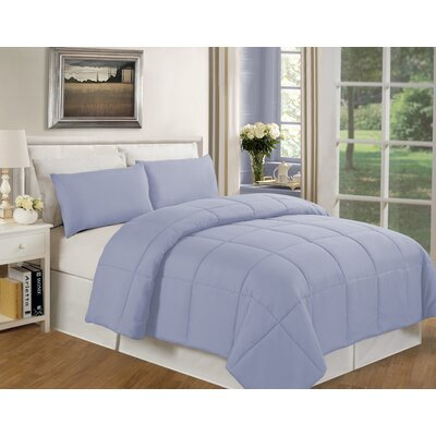 Eckhardt Home Comforter Size: King, Color: Light Blue