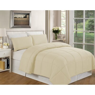 Eckhardt Home Comforter Size: King, Color: Ivory