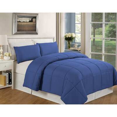 Eckhardt Home Comforter Size: Full/Queen, Color: Navy