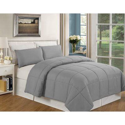 Eckhardt Home Comforter Size: Full/Queen, Color: Light Gray