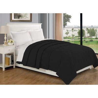 Eckhardt Home Blanket Size: King, Color: Black