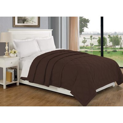 Eckhardt Home Blanket Size: Twin, Color: Chocolate
