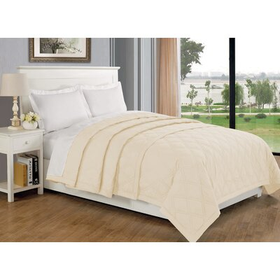 Eckhardt Home Blanket Size: Full/Queen, Color: Ivory
