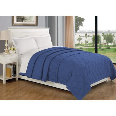 Eckhardt Home Blanket Size: Full/Queen, Color: Navy