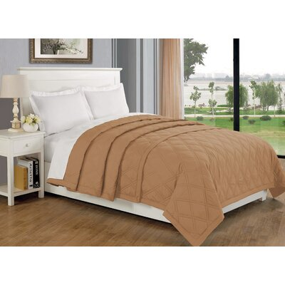 Eckhardt Home Blanket Size: Full/Queen, Color: Taupe