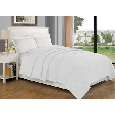 Eckhardt Home Blanket Size: Twin, Color: White