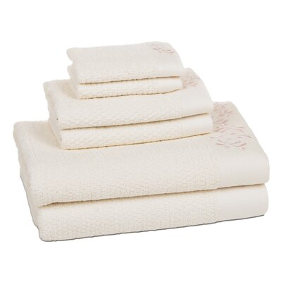Dourdain 6 Piece Towel Set Color: Pastel Pink