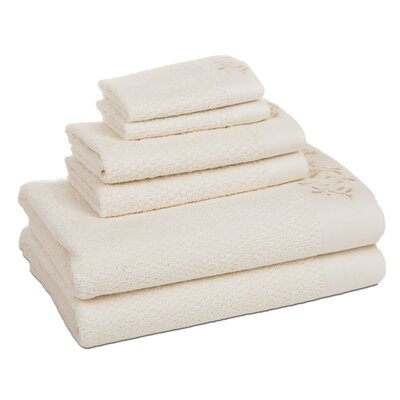 Dourdain 6 Piece Towel Set Color: Pastel Yellow
