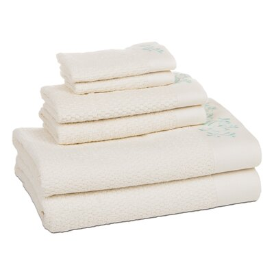 Dourdain 6 Piece Towel Set Color: Sea Glass