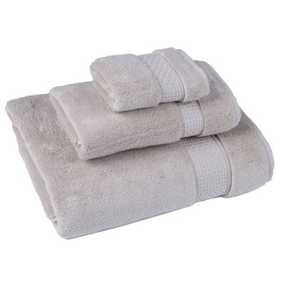 Bell 3 Piece Cotton Towel Set Color: Beige