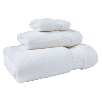 Bell 3 Piece Cotton Towel Set Color: Ivory