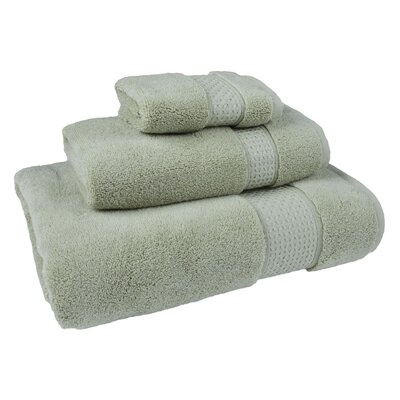 Bell 3 Piece Cotton Towel Set Color: Sage