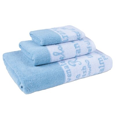 Blankenship 3 Piece Towel Set Color: Agean Blue