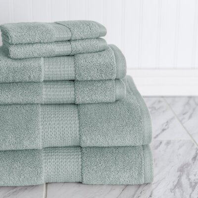 Crystal Bay 6 Piece Towel Set Color: Tourmaline