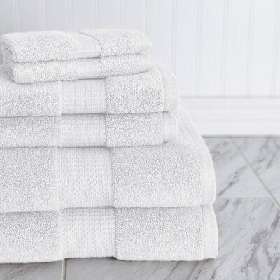 Crystal Bay 6 Piece Towel Set Color: White
