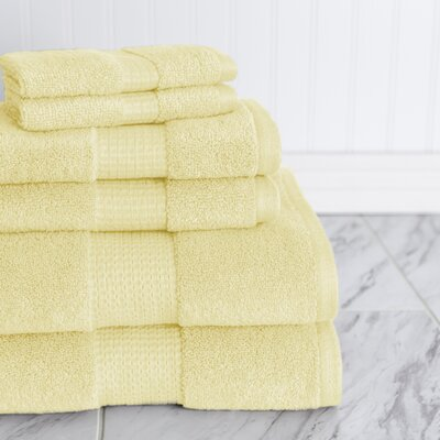 Crystal Bay 6 Piece Towel Set Color: Free Yellow