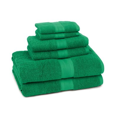 Home Luxe 6 Piece Towel Set Color: Emerald