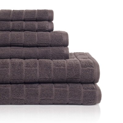 Cobblestone 6 Piece Towel Set Color: Coffee Bean