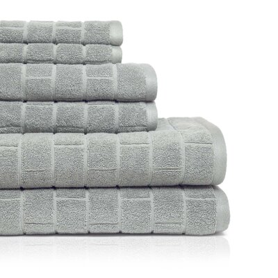 Cobblestone 6 Piece Towel Set Color: Silver Sage