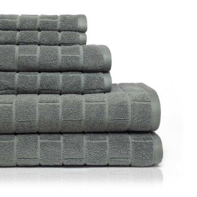Cobblestone 6 Piece Towel Set Color: Charcoal