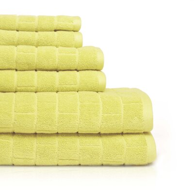 Cobblestone 6 Piece Towel Set Color: Snapdragon