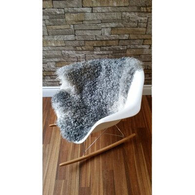 Genuine Swedish Gotland Sheepskin Gray Area Rug