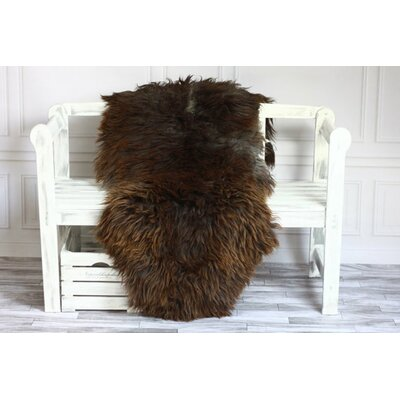 Genuine Natural Sheepskin Soft Wool Dark Brown Area Rug