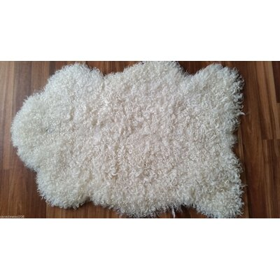 Gallagher Sheepskin Off-White Area Rug