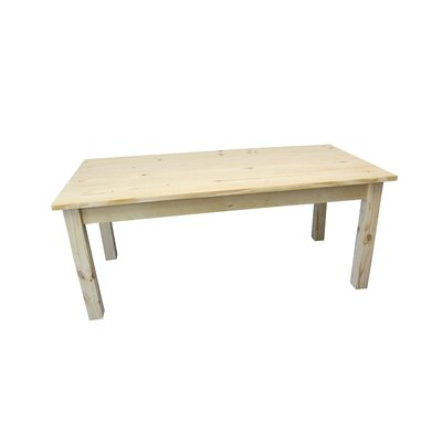 Dejardins Unfinished Dining Table Size: 30 H x 54 W x 34 D
