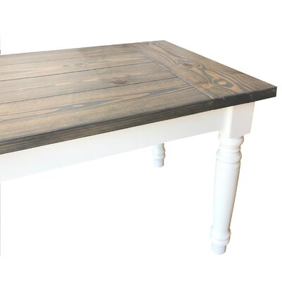 Bhagchandani Cottage Dining Table Size: 30H x 34 W x 72 D, Top Color: Gray, Base Color: White