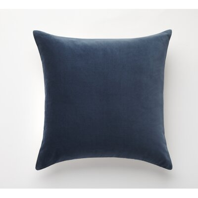 Velvet Euro Pillow Cover Color: Ink