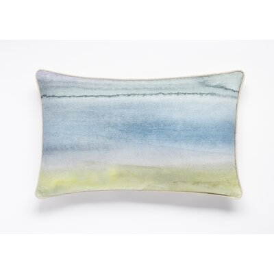 Morar Watercolor Print Lumbar Pillow