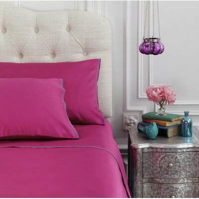 Corrie 230 Thread Count Cotton Sheet Set Size: King, Color: Dahlia Mauve