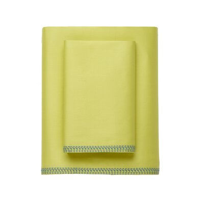 Corrie 230 Thread Count Cotton Sheet Set Size: Twin, Color: Green