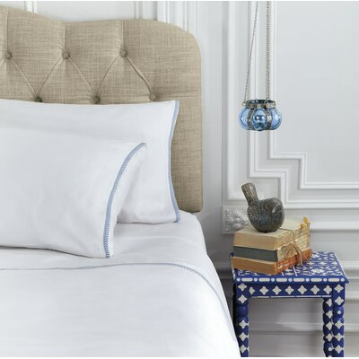 Corrie 230 Thread Count Cotton Sheet Set Size: King, Color: White