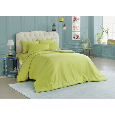 Corrie Reversible Duvet Set Size: King, Color: Celery