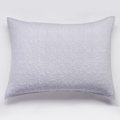 Fern Solid Sham Size: King, Color: Artic Ice