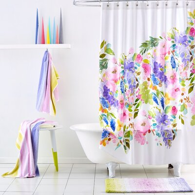 Wisteria Cotton Shower Curtain