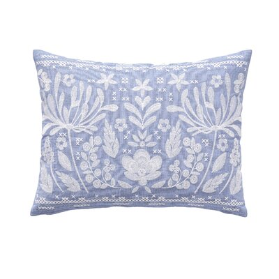 Delphi Embroidered Lumbar Pillow