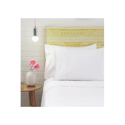 Nessa Pillowcase Pair Size: King, Color: White