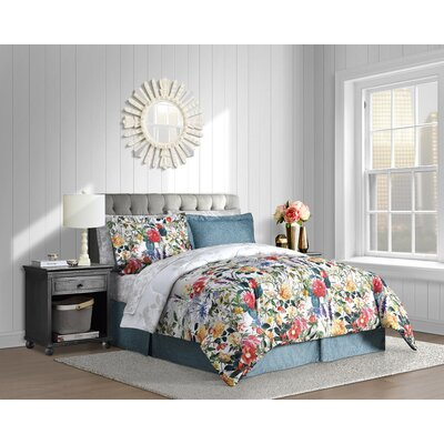 Leslie 6 Piece Reversible Comforter Set Size: King