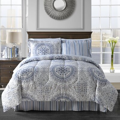 Aidan 6 Piece Comforter Set Size: Full