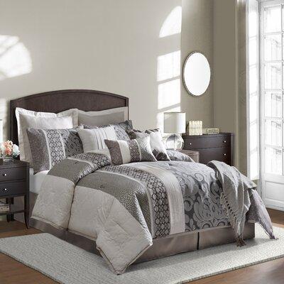 Leighton 8 Piece Comforter Set Size: Cal King