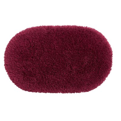 Ultimate Shag Bath Rug Color: Cherry