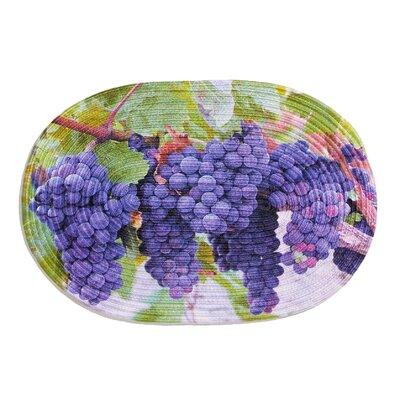 Grape Harvest Bath Rug