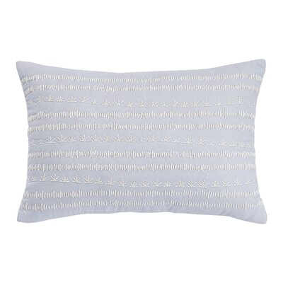 Sophia Embroidery 100% Cotton Lumbar Pillow