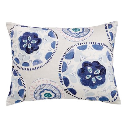 Printed Plates 100% Cotton Lumbar Pillow