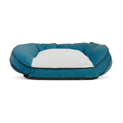 Orthopedic Crescent Curved Pet Bolster Color: Teal, Size: Large (40 W x 29 D)